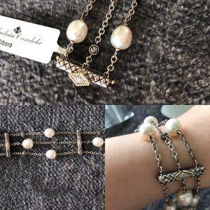 Andrea Candela NEW triple pearl strand bracelet